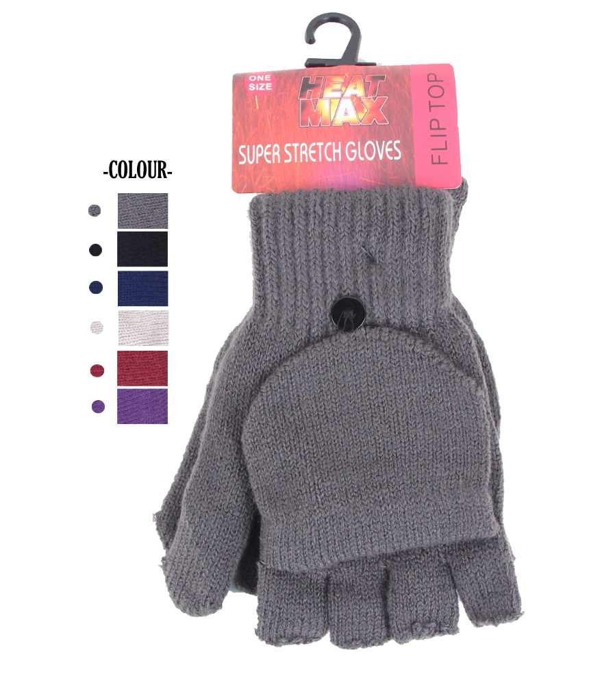 Ladies Heat Max Super stretch Mitten Thermal Gloves